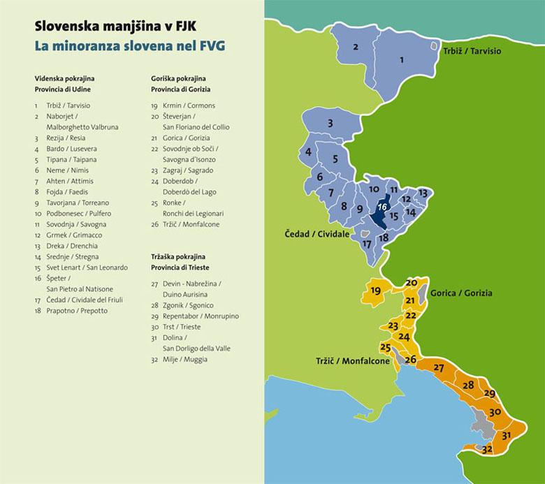 Minoranza slovena in FVG / Slovensko manjšino v FJK